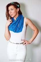 Cyandine Knitted Cowl Pattern