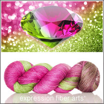 Pre-Order OCTOBER TOURMALINE Limited Edition MERINO SILK PEARLESCENT FINGERING + Free Stitch Marker