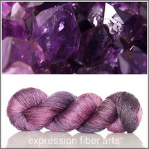 FEBRUARY AMETHYST 'LUSTER' SUPERWASH MERINO TENCEL SPORT