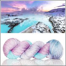 Pre-Order BLUE LAGOON 'LUSTER' MERINO TENCEL SPORT + Free Tie Dye Bag