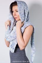 Snowflake Asymmetrical Crochet Shawl