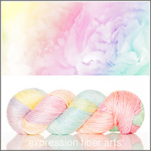 JANUARY CARNATION MERINO SILK PEARLESCENT WORSTED + Lolly