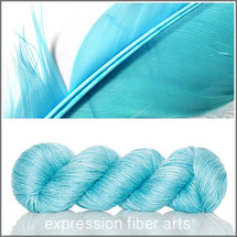 FEATHER BLUE ALPACA SILK DK