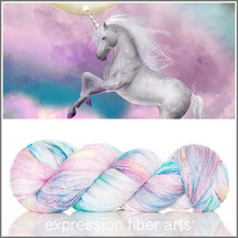 UNICORN SPRINKLES MERINO SILK PEARLESCENT FINGERING + Stitch Marker