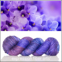 Pre-Order FEBRUARY VIOLET MERINO SILK PEARLESCENT WORSTED + Surprise Goody