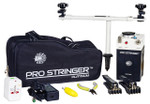 In the Package      Pro Stringer Machine     Table Clamp     Mounting Post     Rotation Bar     Frame Retainers (2)     Butterfly Screws (2)     Flying Clamps (2)     Stringing Tool     Long-nose Pliers     String Cutters/Clippers     Universal Power Adaptor     Padded Carry Bag