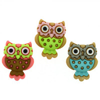 Dress It Up Retro Owls