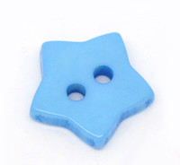 STAR Shaped Plastic Buttons Two Hole 15mm BLUE