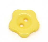 Flower Shaped 12mm Resin Buttons Yellow