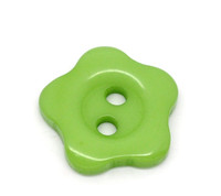 Flower Shaped 12mm Resin Buttons Green