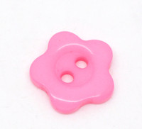 Flower Shaped 12mm Resin Buttons Pink