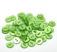 Round 2 Holes Cats Eye Resin Sewing Buttons 11mm Green