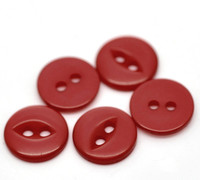 Round 2 Holes Cats Eye Resin Sewing Buttons 11mm Red