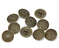 Antique Bronze Shank Design No.5 Buttons 25 mm