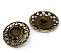 Antique Bronze Shank Design No.1 Buttons 29mm