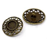Antique Bronze Shank Design No.1 Buttons 29mm