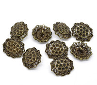 Antique Bronze Shank Design No.2  Buttons 25 mm