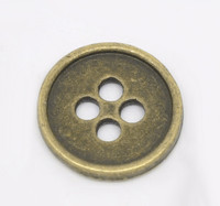 Antique Bronze 4 Holes Buttons 13mm