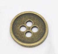 Antique Bronze 4 Holes Buttons 13mm