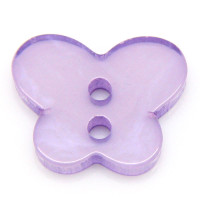 Resin Sewing Buttons 2 Hole Butterfly Purple