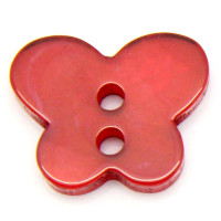Resin Sewing Buttons 2 Hole Butterfly Red