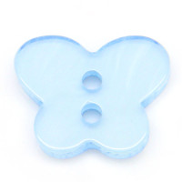 Resin Sewing Buttons 2 Hole Butterfly Blue
