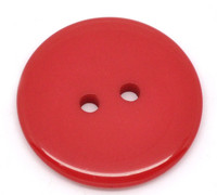 Round Plastic Buttons Two Hole 23mm Red