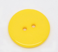 Round Plastic Buttons Two Hole 23mm Yellow