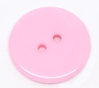 Round Plastic Buttons Two Hole 23mm Pale Pink