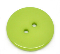Round Plastic Buttons Two Hole 23mm Green