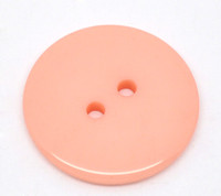 Round Plastic Buttons Two Hole 23mm Salmon