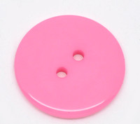 Round Plastic Buttons Two Hole 23mm Dark Pink