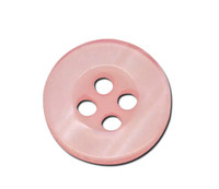Round Plastic Buttons Four Hole 11mm Translucent Peach