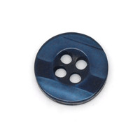 Round Plastic Buttons Four Hole 11mm Translucent Navy Blue