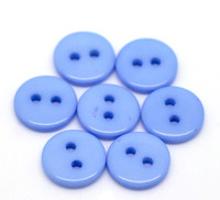 "2 Holes Mini Resin Sewing Buttons  11mm (3/8"") - Blue"