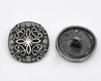 Silver Tone Metal Shank Buttons 23 mm Design No. 9