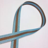 """High Quality Reversible Ribbon """"Polo Stripe"""" BLUE-LATTE"""