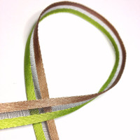 "High Quality Decorative Ribbon ""Fifi"" 9mm wide CHARTREUSE - LATTE"