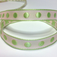 "High Quality Decorative Ribbon ""Lulu"" Embroidered Ribbon 10mm wide PINK - APPLE"