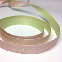 """High Quality Reversible Ribbon """"Polo Spots"""" Pink-Apple"""