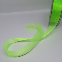 High Quality Lime Organza Ribbon 25mm wide