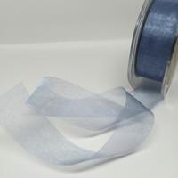 High Quality Steel Blue Organza Ribbon 25mm wide