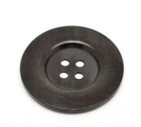 Round Extra Large Wood Button (Design 2) Four Hole Dark Brown Colour 6cm