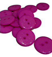 Round Plastic Buttons Two Hole 21mm Purple