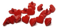 Heart Shaped Shank Button - Red