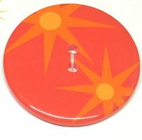 34mm Round Confetti Button - 3201