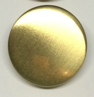 LA Mode 22mm Satin Gold Metal Button Code Hook 075
