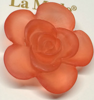 LA Mode 34mm Translucent Peach Flower Hook 175