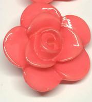 LA Mode 25mm Pink Flower Hook 215