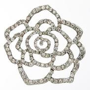 LA Mode 44mm Crystal Flower Shank Button Hook 007